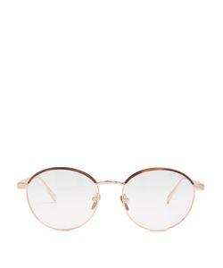 Linda Farrow | Roseplated Round-Frame Glasses