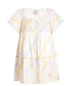 Thierry Colson | Raffia Stripe-Print Cotton-Voile Dress