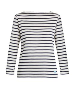 ORCIVAL | Breton-Striped Cotton And Silk-Blend Top