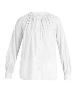 Vince | Oversized Gathered-Detail Cotton Shirt