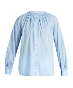 Vince   Oversized Gathered-Detail Cotton Shirt