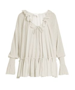 See By Chloe | Ruffle-Trimmed Gauze-Jersey Blouse