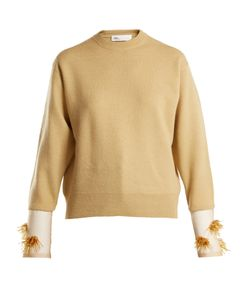 Toga | Crew-Neck Bead-Embellished Wool-Blend Knit Sweater