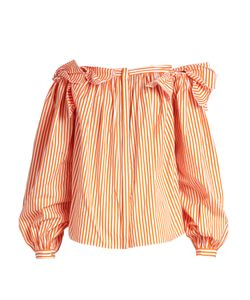 Maison Rabih Kayrouz | Off-The-Shoulder Striped Cotton Top