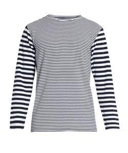 Blue Blue Japan | Striped Cotton-Blend T-Shirt