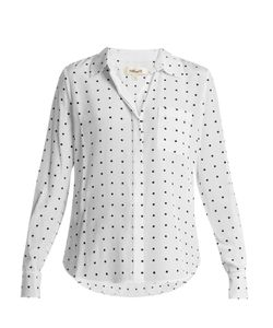 Diane Von Furstenberg | Arbor Dot-Print Point-Collar Silk Shirt