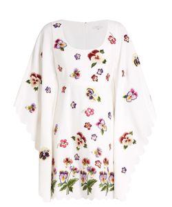 Andrew Gn | -Appliqué Kimono-Sleeve Crepe Dress