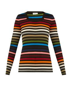 Sonia Rykiel | Striped Scoop-Neck Ribbed-Knit Sweater