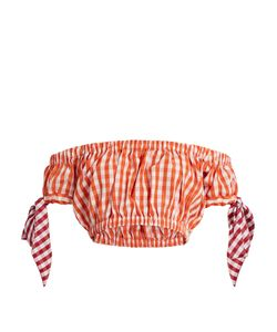 House Of Holland | Off-The-Shoudler Gingham Bandeau Top