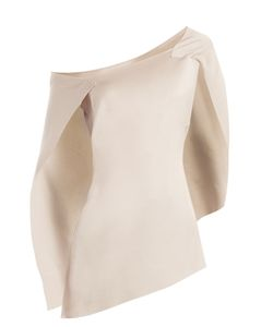 Roland Mouret | Heartwell Asymmetric Satin Top