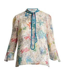 Peter Pilotto | Neck-Tie Print Silk Blouse