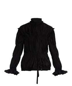 J.W. Anderson | High-Neck Pleated Crepe Jacket
