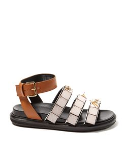 Marni | Triple-Strap Embellished Leather Sandals