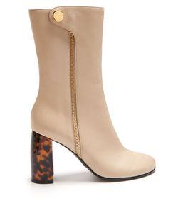 Stella Mccartney | Block-Heel Faux-Leather Ankle Boots