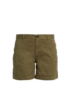 Frame | Le Cuffed Mid-Rise Stretch-Cotton Shorts