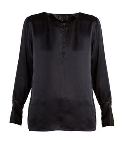 Nili Lotan | Kayla Long-Sleeved Silk-Satin Blouse