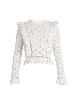 Zimmermann | Divinity Wheel Broderie-Anglaise Top