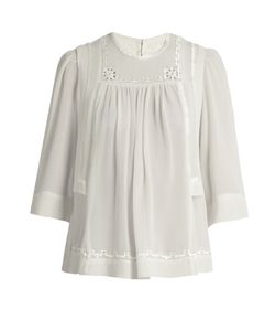 Isabel Marant | Mara Embroide Silk Blouse
