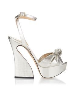 Charlotte Olympia | Vreeland Knotted Lamé Sandals