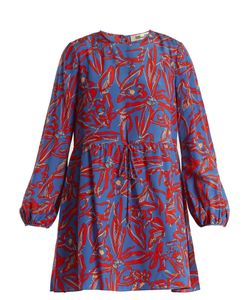 Diane Von Furstenberg | Drawstring-Waist Silk Crepe De Chine Dress