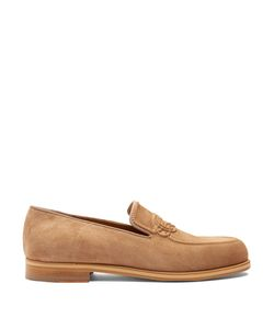 Christian Louboutin | Dirk Knot-Embossed Suede Loafers
