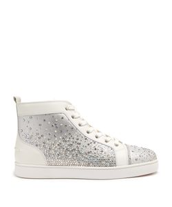Christian Louboutin | Galaxtidude Embellished High-Top Leather Trainers