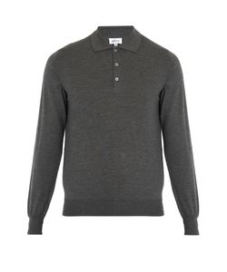 Brioni | Long-Sleeved Wool Polo Shirt