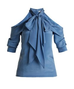 Erdem | Elin Cut-Out Shoulder Silk Blouse