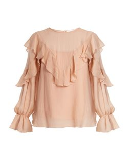See By Chloe | Ruffle-Trimmed Cotton And Silk-Blend Top