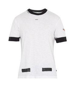 OFF-WHITE | Contrast-Trim Cotton T-Shirt