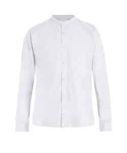 Sunspel | Granddad-Collar Cotton-Poplin Shirt