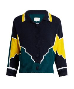 Maison Margiela | Long-Sleeved Cotton Intarsia-Knit Polo Shirt