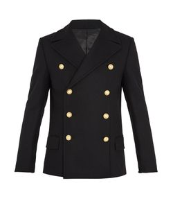 Balmain | Double-Breasted Wool Pea Coat