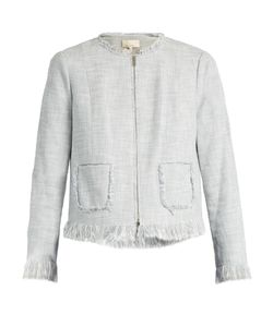 Rebecca Taylor | Fringed Collarless Cotton-Blend Jacket