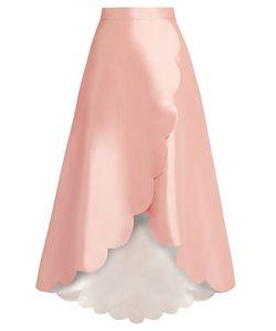 Huishan Zhang | Harper Scallop-Edged Wool-Blend Skirt