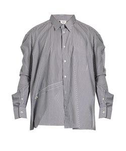 VETEMENTS | X Comme Des Garçons Asymmetric Striped Shirt