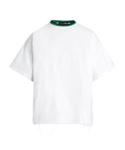LONGJOURNEY | Baggy Raw-Edged Cotton T-Shirt