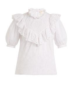 Rebecca Taylor | Nouveau Ruffled Cotton Top