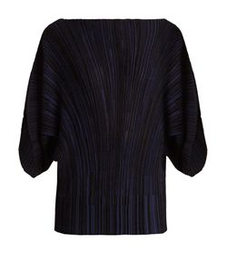 Sonia Rykiel | Draped-Sleeve Ribbed-Knit Top