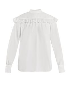 Helmut Lang | Ruffle-Trimmed Cotton Shirt