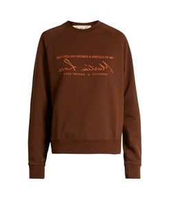MARTINE ROSE | Embroide Cotton-Jersey Sweatshirt