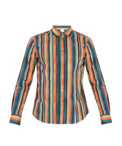 Paul Smith | Artist Stripe-Print Single-Cuff Cotton Shirt