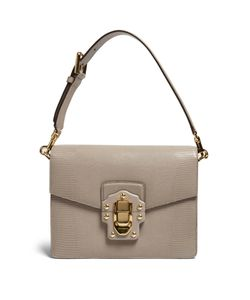 Dolce & Gabbana | Lucia Lizard-Effect Leather Shoulder Bag