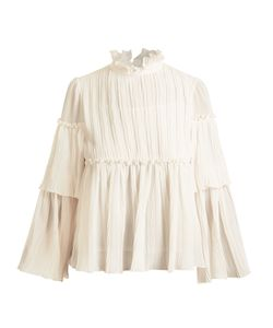 See By Chloe | Ruffle-Trimmed Pleated Georgette Blouse