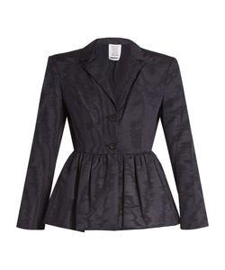 Rosie Assoulin | Peplum-Hem Silk And Wool-Blend Moire Jacket