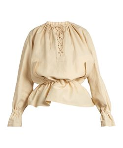 J.W. Anderson | Oversized Lace-Up Sateen Blouse