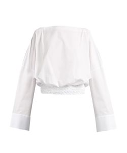 Haider Ackermann | Byron Smocked-Hem Cotton Top