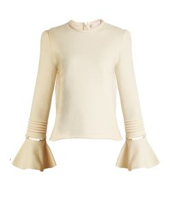 See By Chloe | Frill-Sleeve Cotton-Jersey Sweatshirt