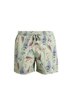 Etro | Paisley And Mermaid-Print Swim Shorts