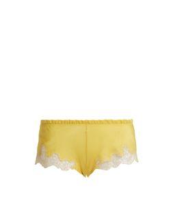 Carine Gilson | Lace-Trimmed Silk-Satin Pyjama Shorts
